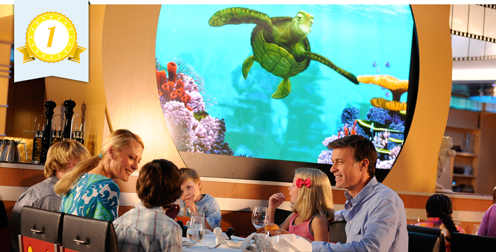 best cruise line dining disney