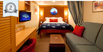 best cruise ship inside cabins disney