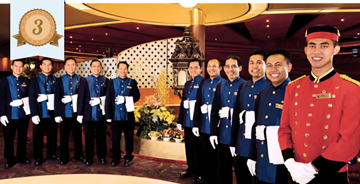 holland america line best service staff