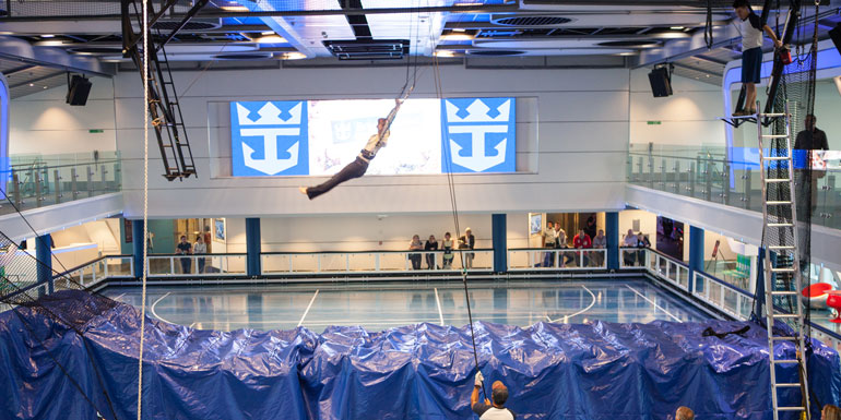royal caribbean trapeze