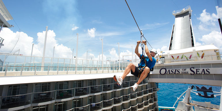 zip line cruise ship royal caribbean