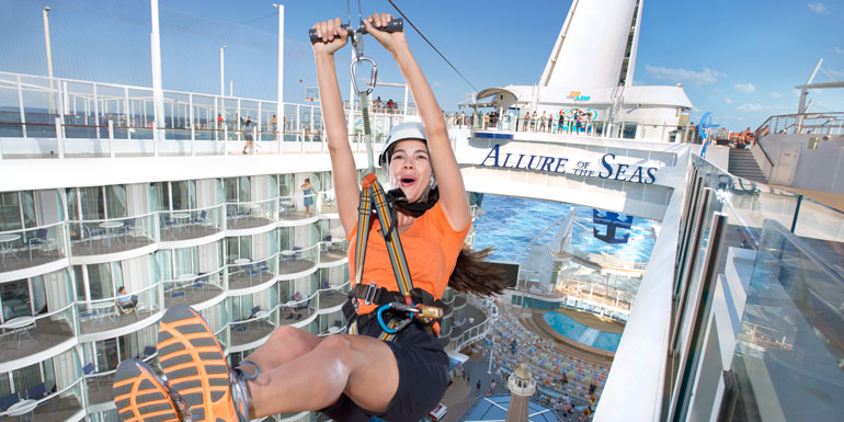zip line royal caribbean cruise