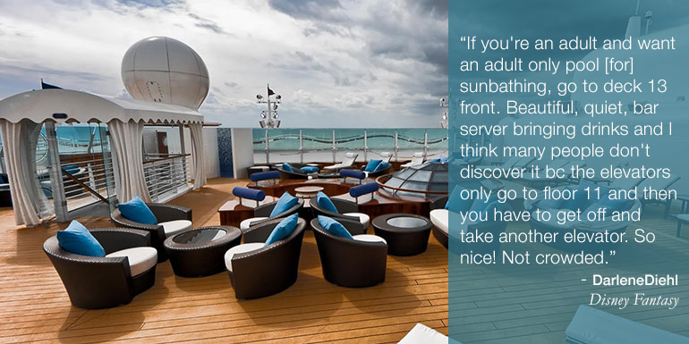 sun deck disney cruise hacks