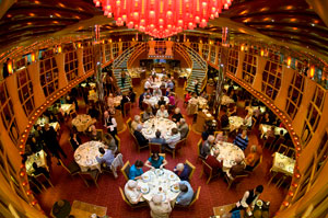 dinner first day of a cruise