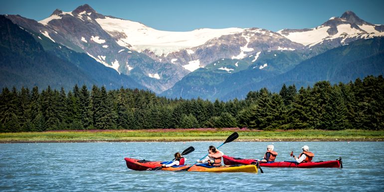 shore excursion alaska kayak