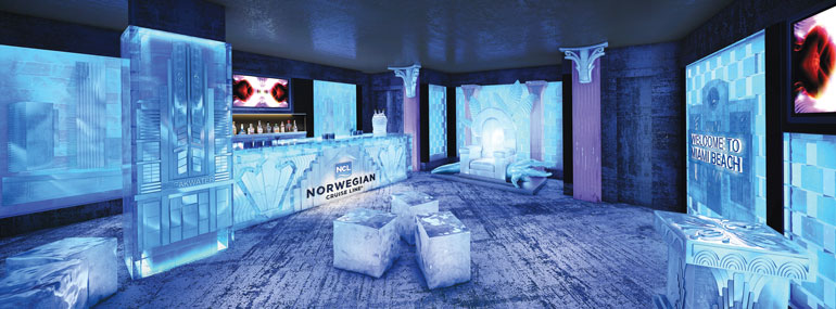 "This popular brand of vodka hosts this extremely ""cool"" bar on Norwegian ships:"