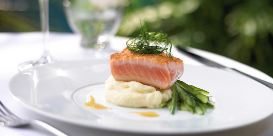 salmon medallions on cruise ship