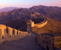 sunset great wall of china