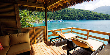 A cabana on Royal Caribbean's Labadee