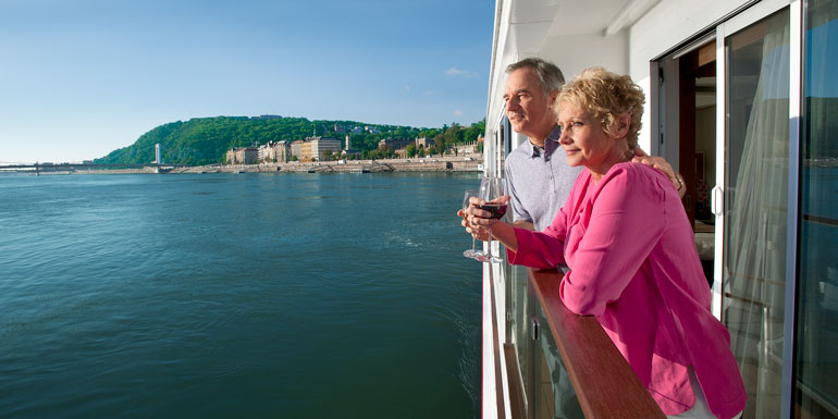 viking river cruise balcony couple