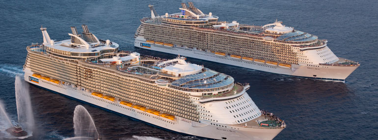 Oasis of the Seas and Allure of the Seas are home to the first  _________ at sea.