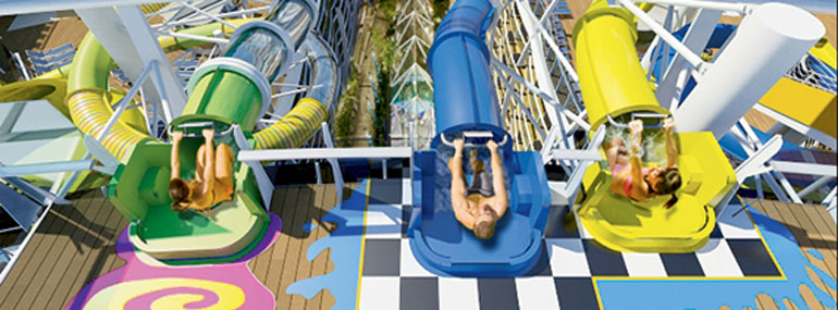 These three water slides make up the perfect storm water slides: