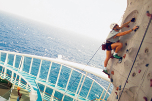 solo cruising royal caribbean rock climber