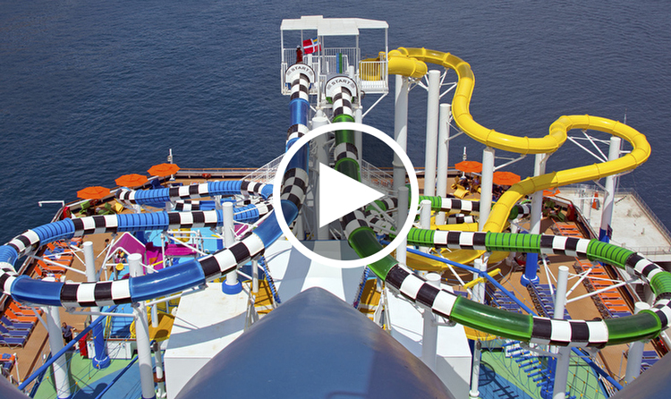 carnival cruise ship with waterslide