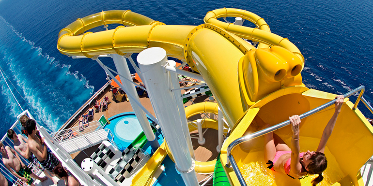 best cruise ship water slides craziest