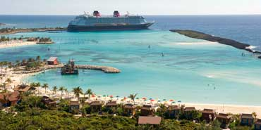 Disney Dream docks at Castaway Cay