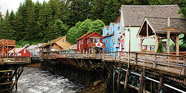 Ketchikan Creek runs through town