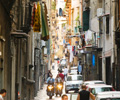 Busy street in naples