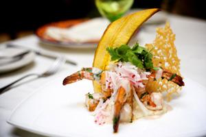 puerto vallart mexico palapa shrimp plantain