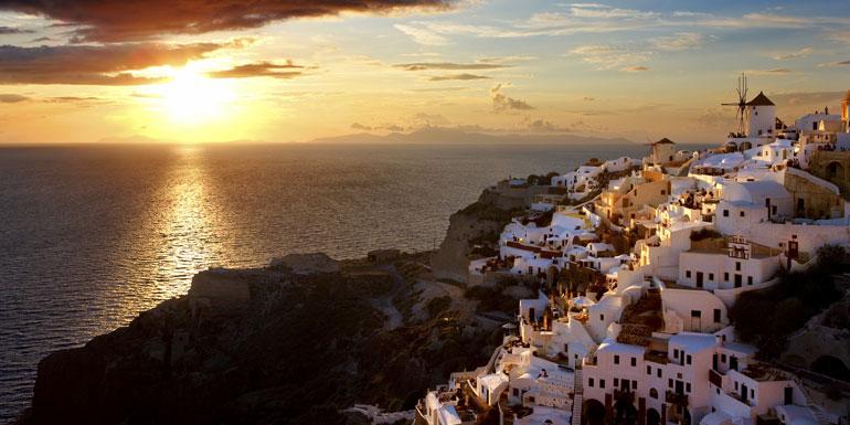 sunset santorini cruise oia