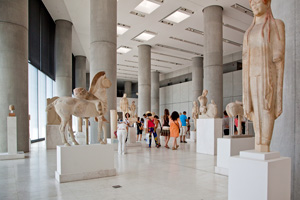 statues athens greece acroplis museum