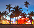 Miami beach at Sunset, Ocean Drive