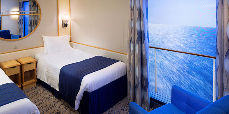 msc divina outside balcony ship cabin