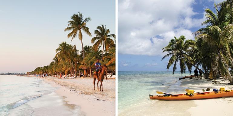 easter western caribbean activities horseback kayak