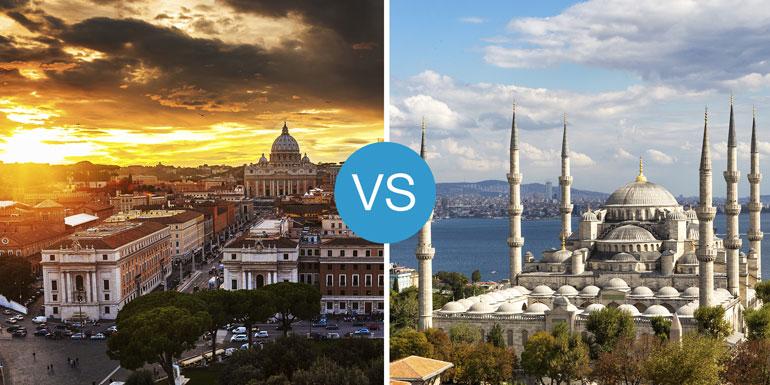 eastern or western med mediterranean cruise