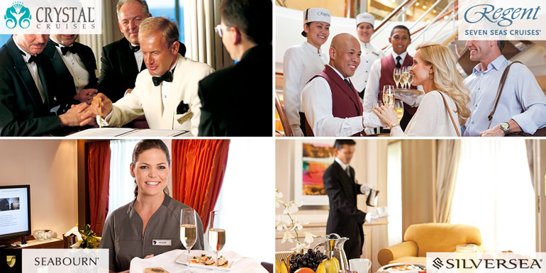 luxury cruise service crystal regent silversea