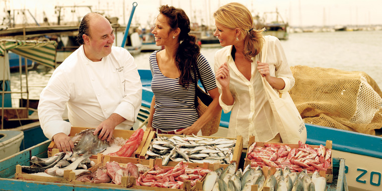 chef shopping seabourn luxury cruise ship