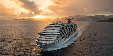 <i>Carnival Breeze</i> at sea off Tortola