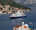 SeaDream II cruising from Kotor, Montenegro