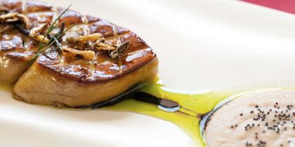 foie gras cruise ship dish