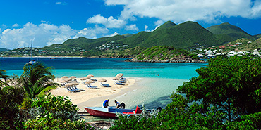 Beach in St. Martin, Caribbean