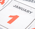 Calendar displays January 1