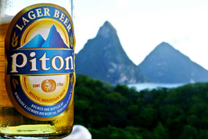 st. lucia piton beer caribbean drinks
