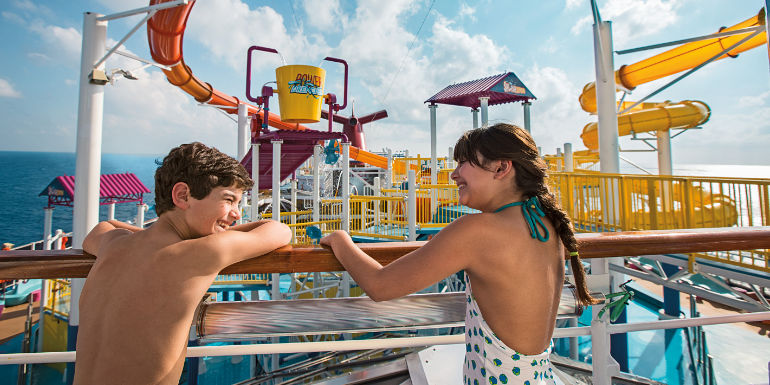 carnival breeze cruise kids waterworks family