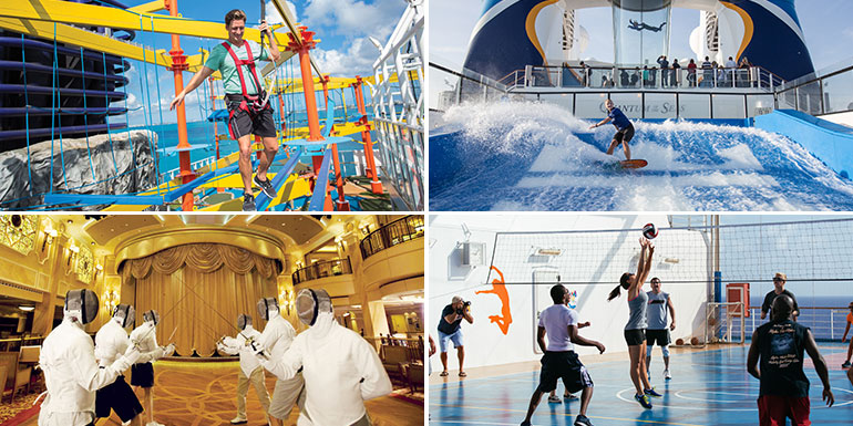 cruise exercise stay in shape onboard