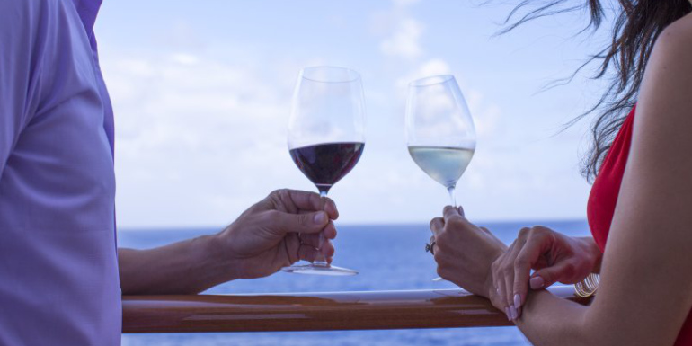wine glass tasting cruise ship blending