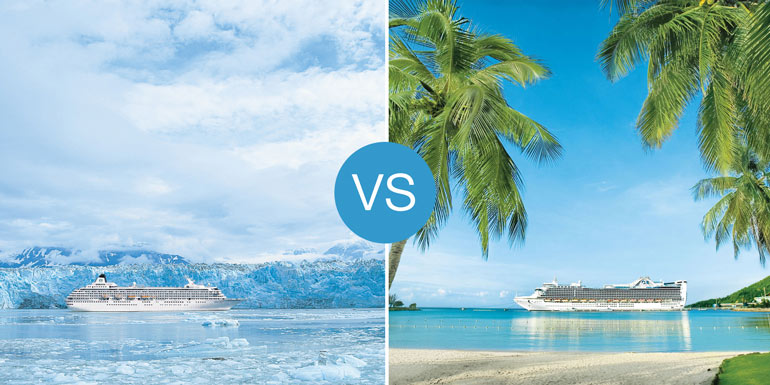 caribbean vs alaska cruise destination smackdown
