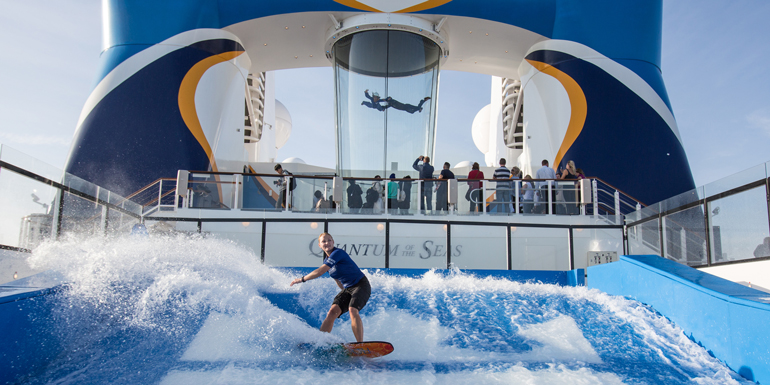 flowrider skydiving quantum of the seas
