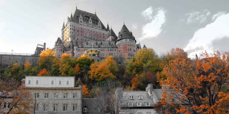 quebec city canada autumn fall foliage