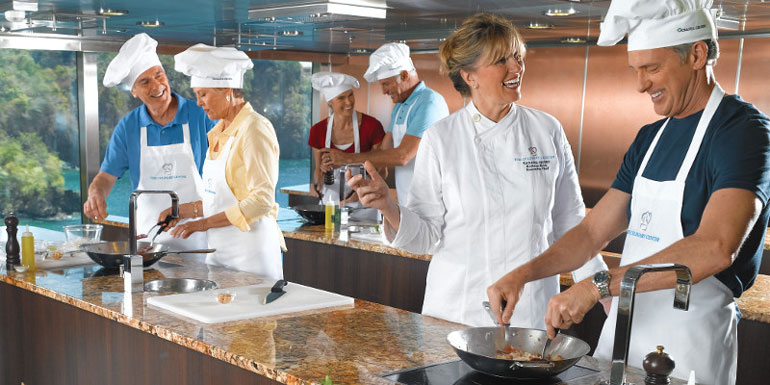 Onboard Cooking Classes for Foodies
