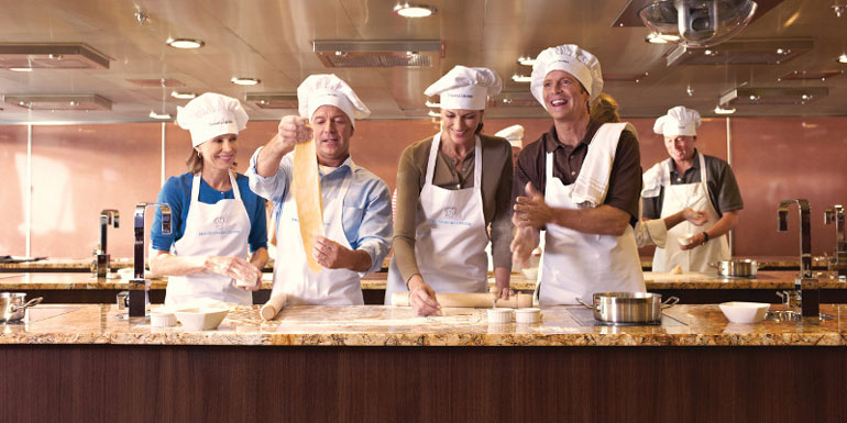 oceania cruises cooking class bon appetit