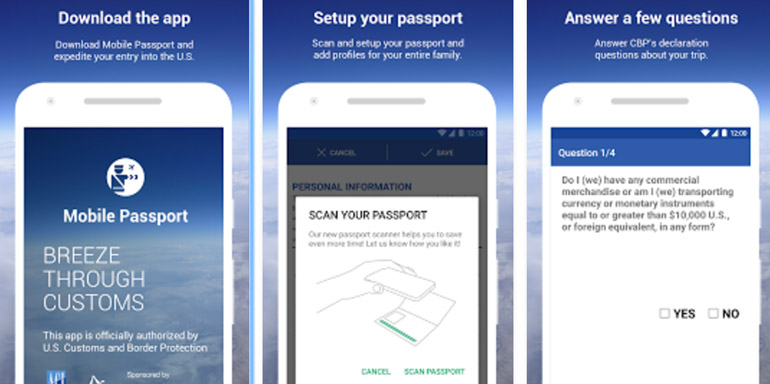 mobile passport app cruise travel