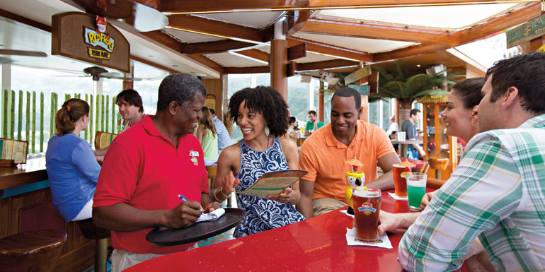 carnival cruise ship bar red forg