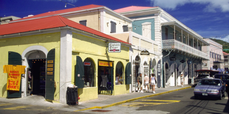 shopping st. thomas dream caribbean island