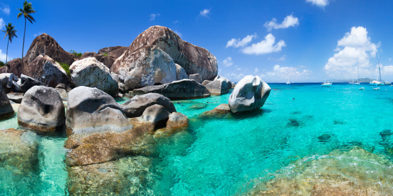 baths virgin gorda caribbean island beach