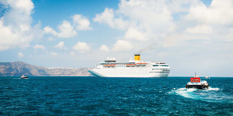 tender boat santorini missed ports